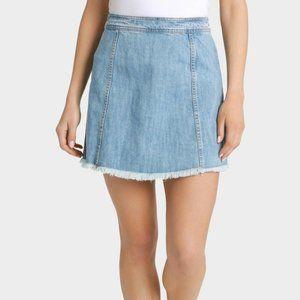 MILK & HONEY A-line High Waisted Denim Skirt